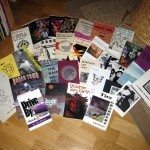 a display of some of my books and some Vagabond books that Magnus Grehn in Sweden sent me…