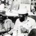 me and Ben Hiatt of Grande Ronde Review at the San Francisco Book Fair, around 1975-76
