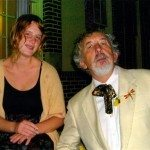 Glenn Miller, New Orleans art editor for Vagabond, and Savannah, his female companion -- April 2011. Glenn looks like he's morphing into Tennessee Williams, but with a different sexual orientation. He always was a lady's man ...
