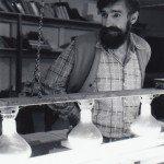 John Bennett at Small Press Review print shop, circa late 70s