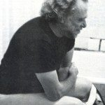 Charles Bukowski, deep in meditation...